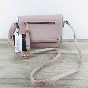 Bags - Mauve Mini Crossbody Bag Vegan Leather